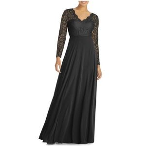Dessy Collection Lace & Chiffon A-Line Gown 14